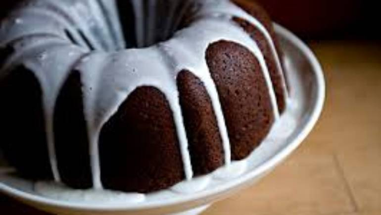 Cherry Whiskey Chocolate Bundt Cake – by Allison Motlong